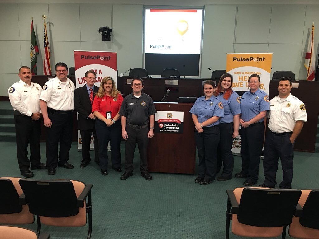 Public PulsePoint launch event in Brevard FL.