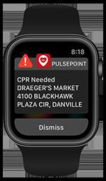 Critical Alert CPR Notification on Apple Watch.