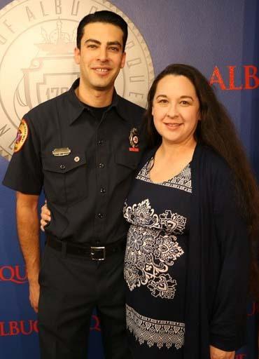 David Zamora with wife.