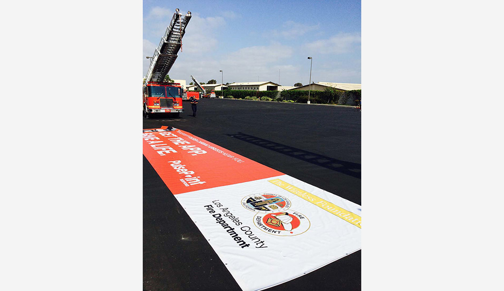 LACoFD Two Truck PulsePoint Outreach Banner.