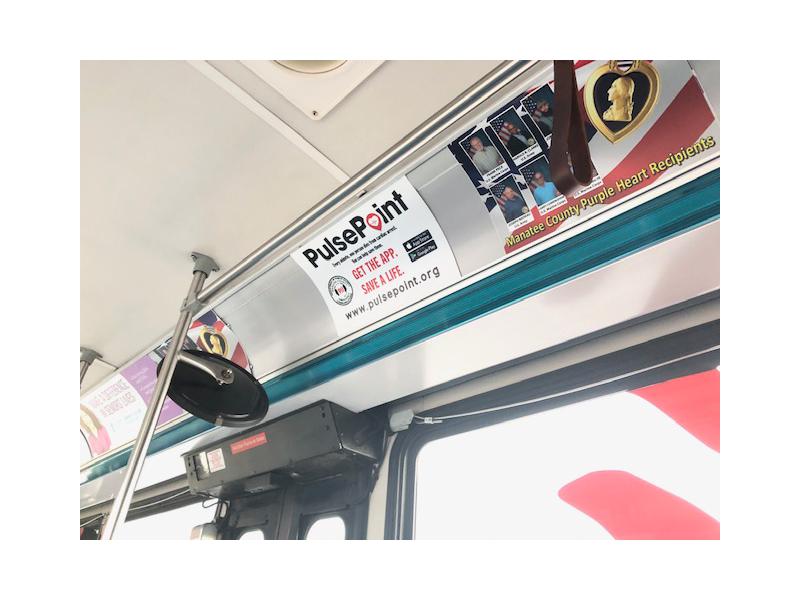Manatee County FL PulsePoint Bus Signage Marketing.