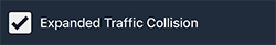 Notification checkbox for Expanded Traffic Collision.