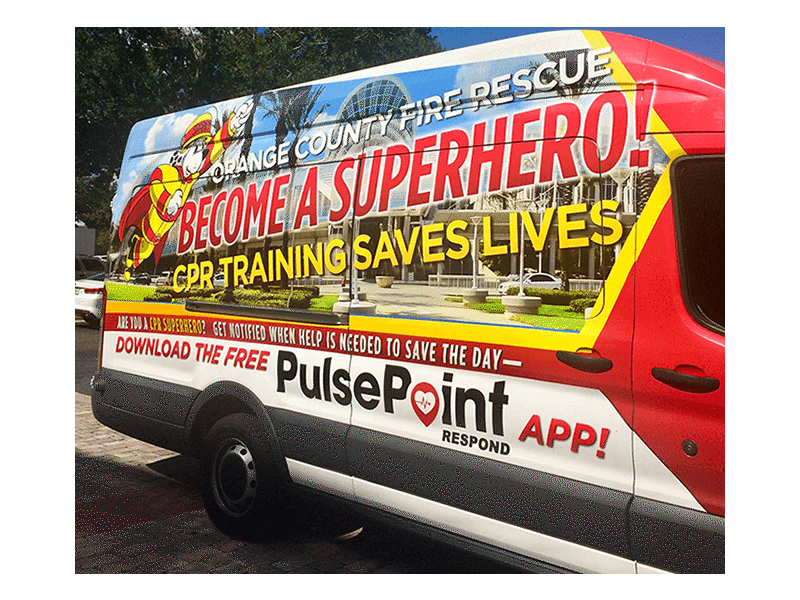 PulsePoint OCFR Vehicle Wrap.