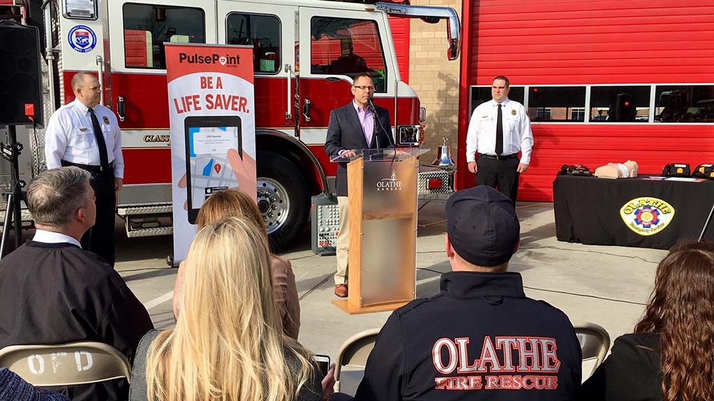 Public PulsePoint launch event in Olathe KS.