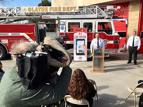 Public launch of PulsePoint in Olathe KS.