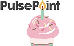 PulsePoint Birthday Cupcake Graphic.