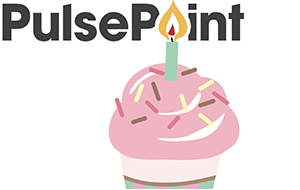 PulsePoint Birthday Cupcake Graphic.