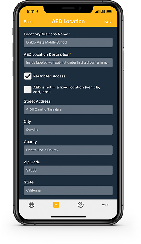 Comprehensive location information including full address, latitude and longitude, and public access restrictions.
