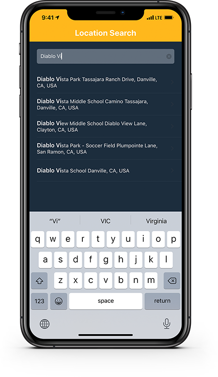 PulsePoint AED speeds data entry and improves accuracy with predictive location search.
