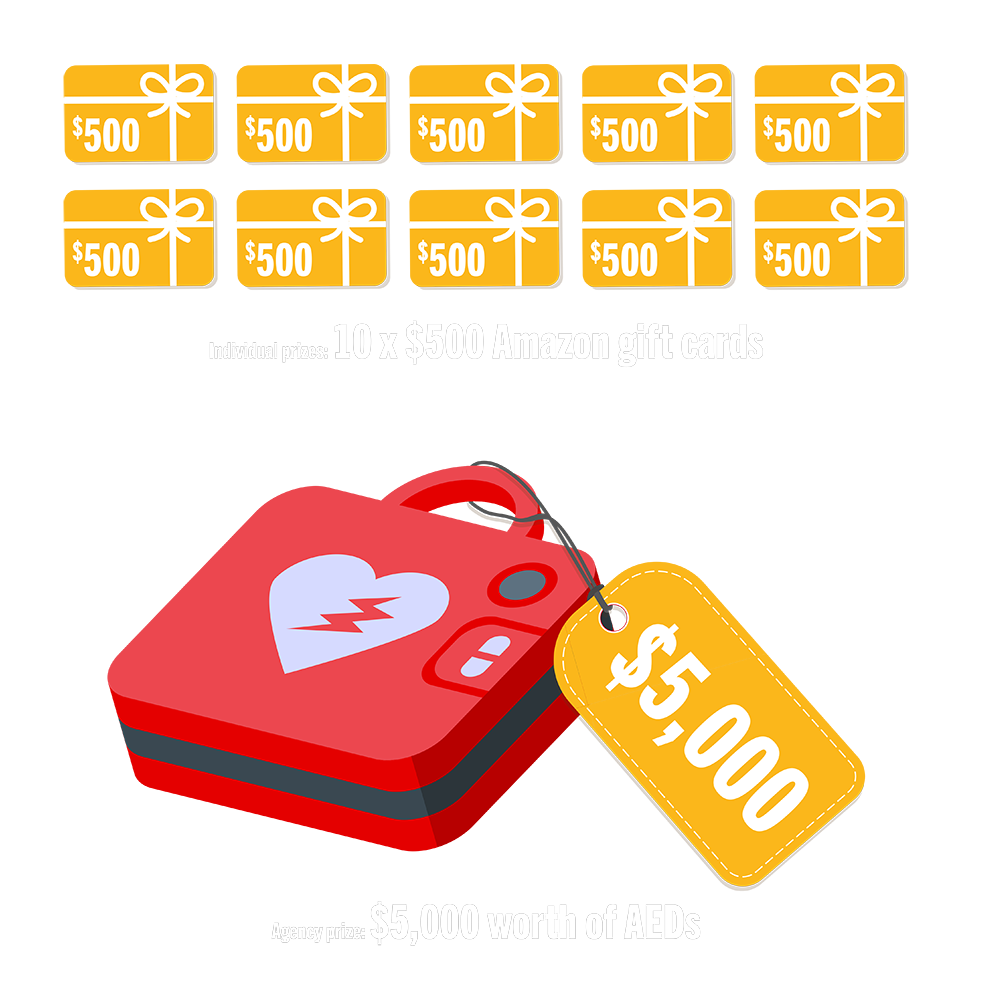 PulsePoint AED Contest Prizes Graphic