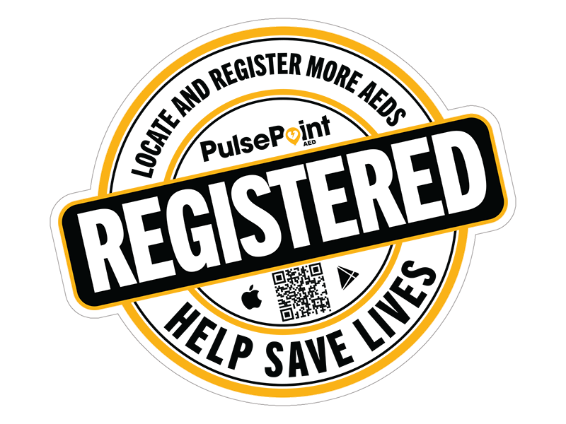 PulsePoint AED Registered Sticker