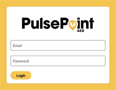 PulsePoint AED Registry Login