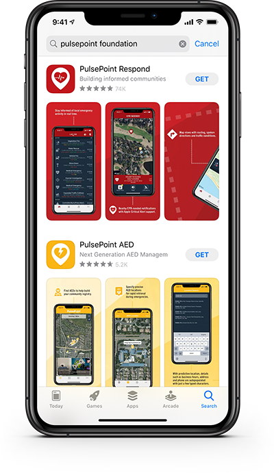 PulsePoint apps in the Apple App Store.