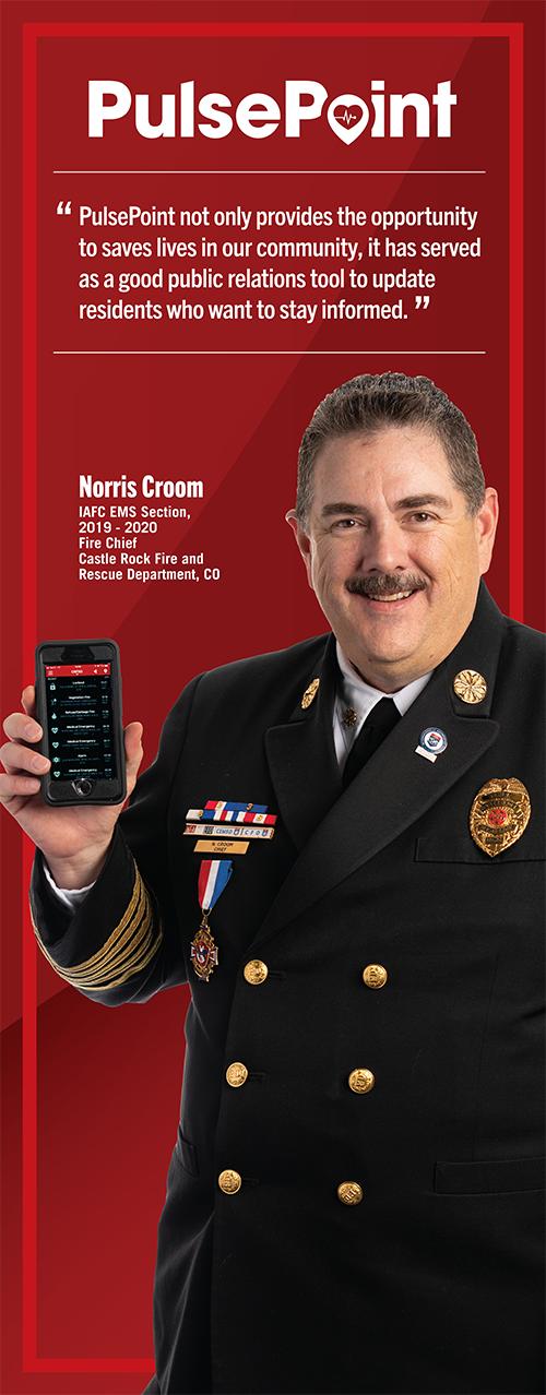 Fire Chief Norris Croom.
