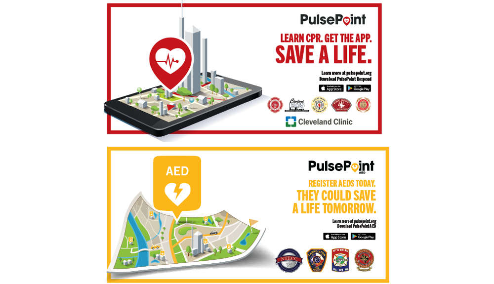 PulsePoint Respond and AED Marketing Outreach Banners