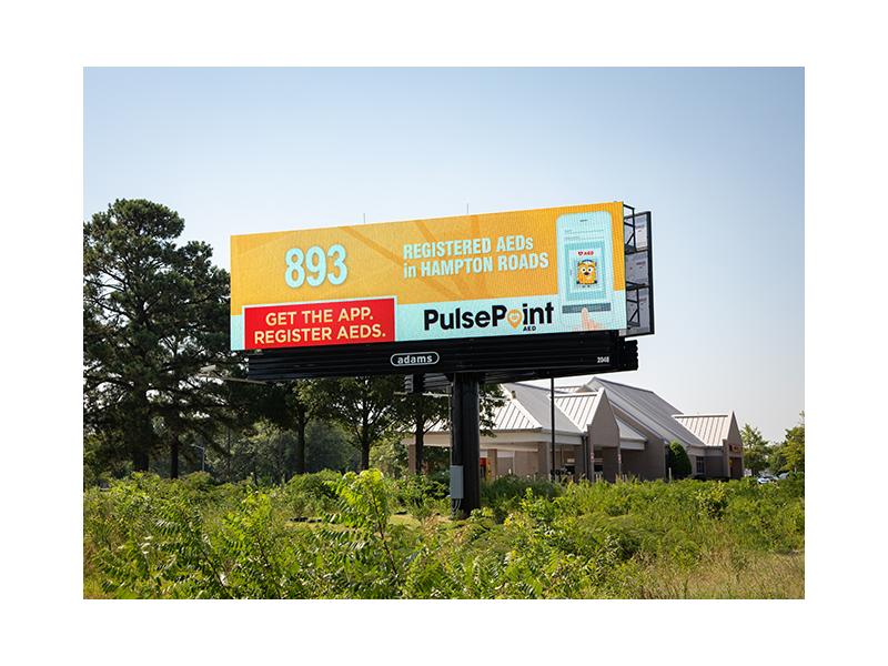 PulsePoint Billboard AED Hampton Roads.