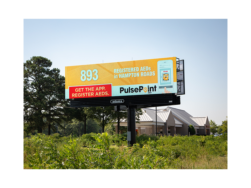 PulsePoint Billboard AED Hampton Roads.