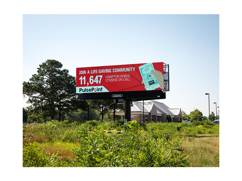PulsePoint Billboard Respond Hampton Roads.