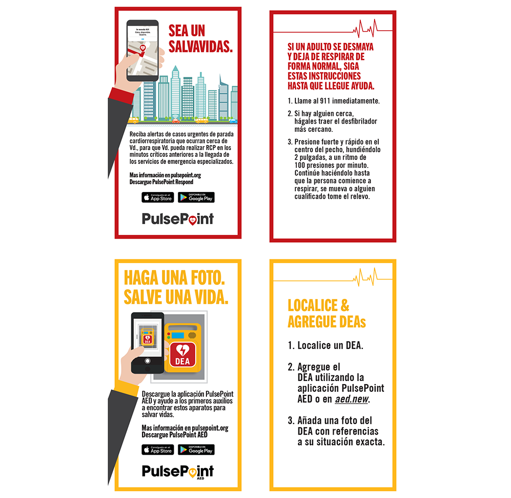 PulsePoint Outreach Biz Cards (Spanish language).