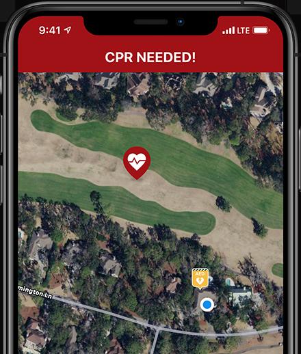 PulsePoint Respond CPR-needed alert.
