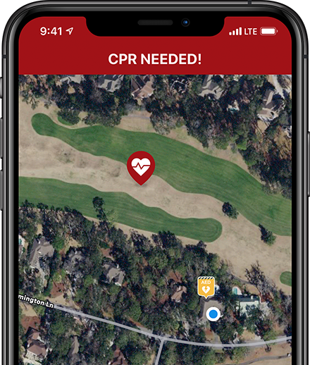PulsePoint Respond CPR-needed alert.
