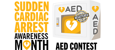 PulsePoint Cardiac Arrest Awareness Month AED Contest Featured News Graphic
