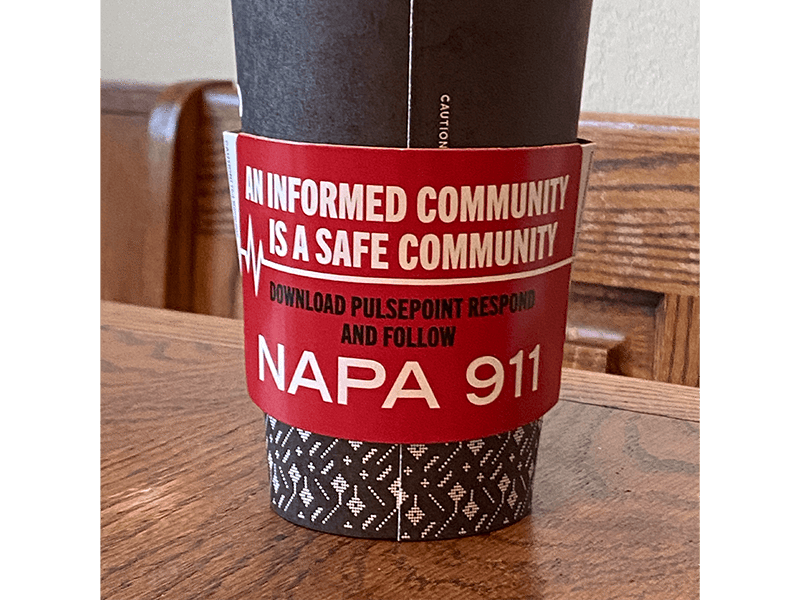 PulsePoint Coffee Sleeve Napa 911
