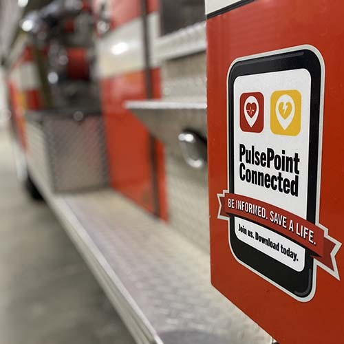 PulsePoint Connected Apparatus Decal
