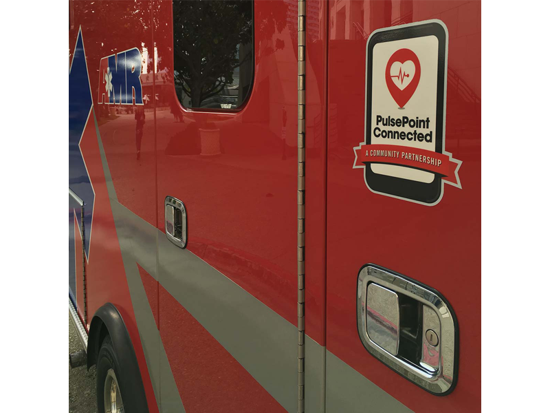 PulsePoint Connected Apparatus Decal.