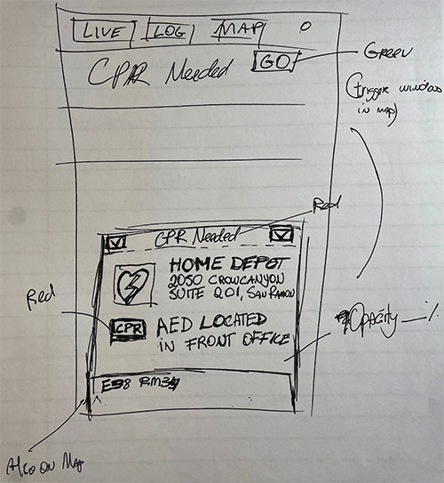 PulsePoint Early Concept Drawing