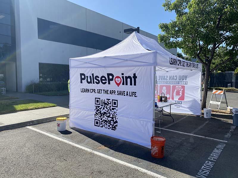 PulsePoint Event Tent Marketing Napa