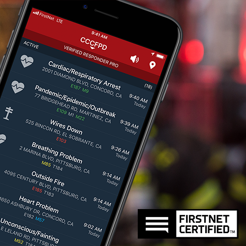 PulsePoint Respond is FirstNet Certified for use with 9-1-1.