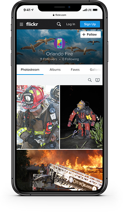 PulsePoint profile page Flickr social media.