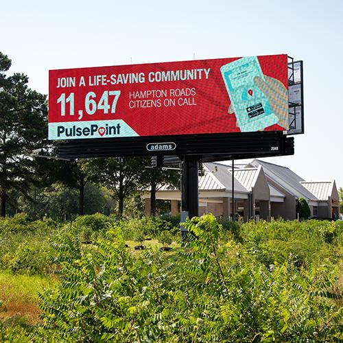 PulsePoint Hampton Roads VA Respond Billboard.