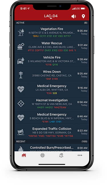 Phone displaying PulsePoint Respond app.