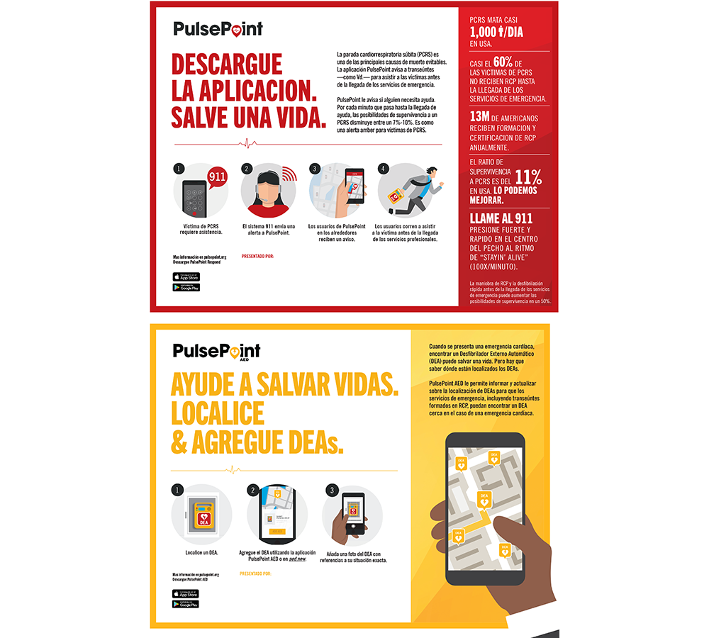 PulsePoint Outreach Infographic (Spanish language).