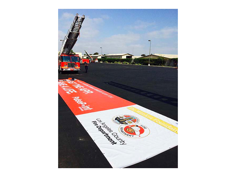 PulsePoint LACoFD Aerial Ladder Banner.