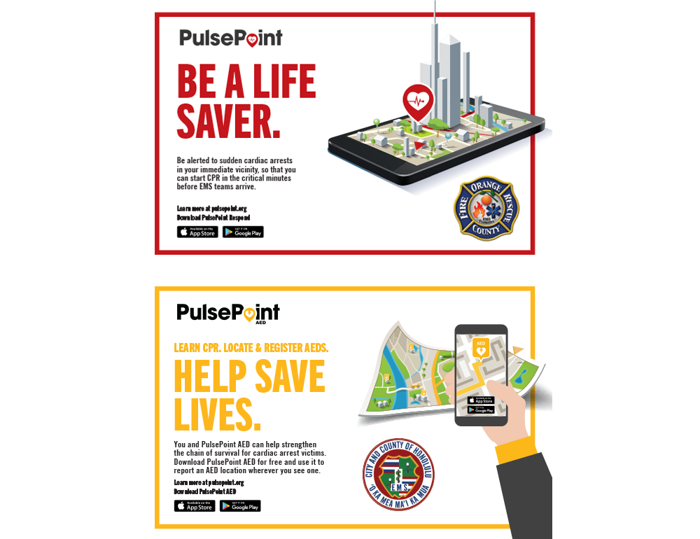 PulsePoint Respond and AED Marketing Outreach Postcards