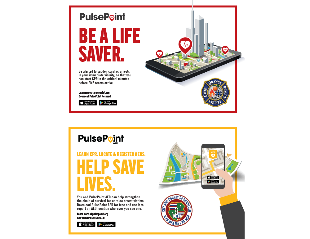PulsePoint Outreach Postcard.