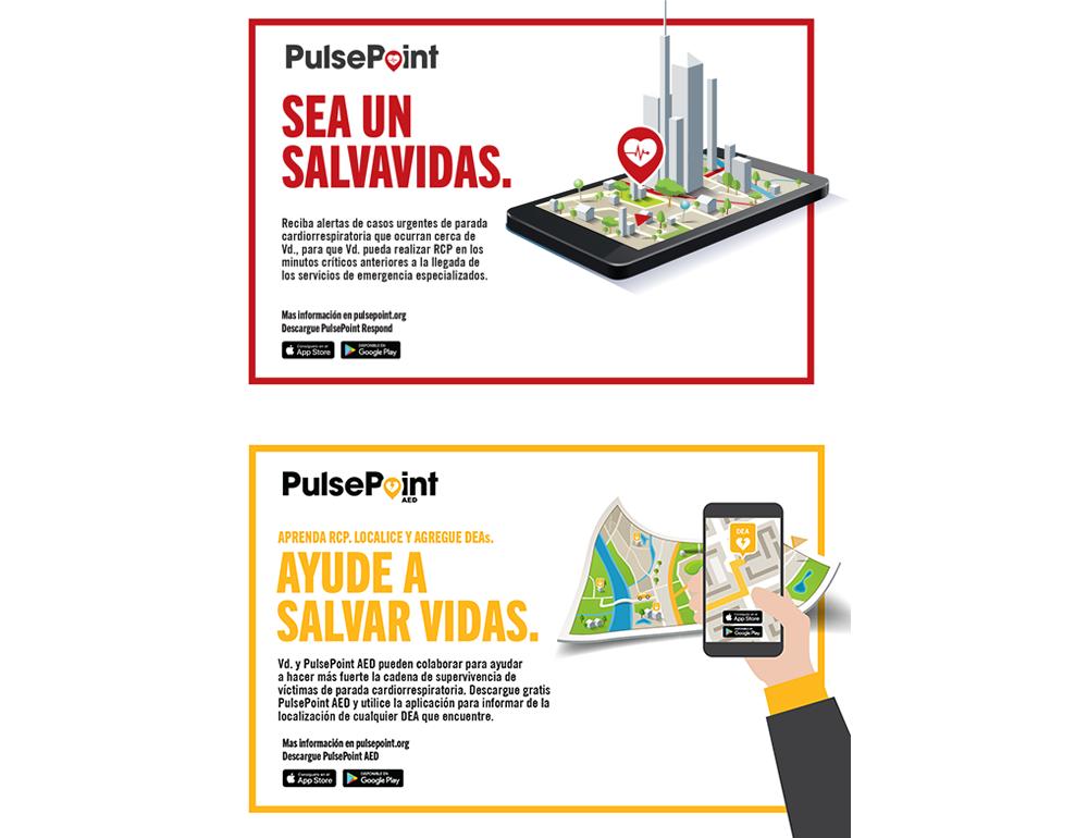 PulsePoint Outreach Postcard (Spanish language)