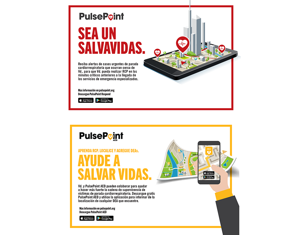 PulsePoint Outreach Postcard (Spanish language).
