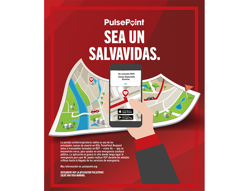 PulsePoint Outreach Poster (Spanish language)