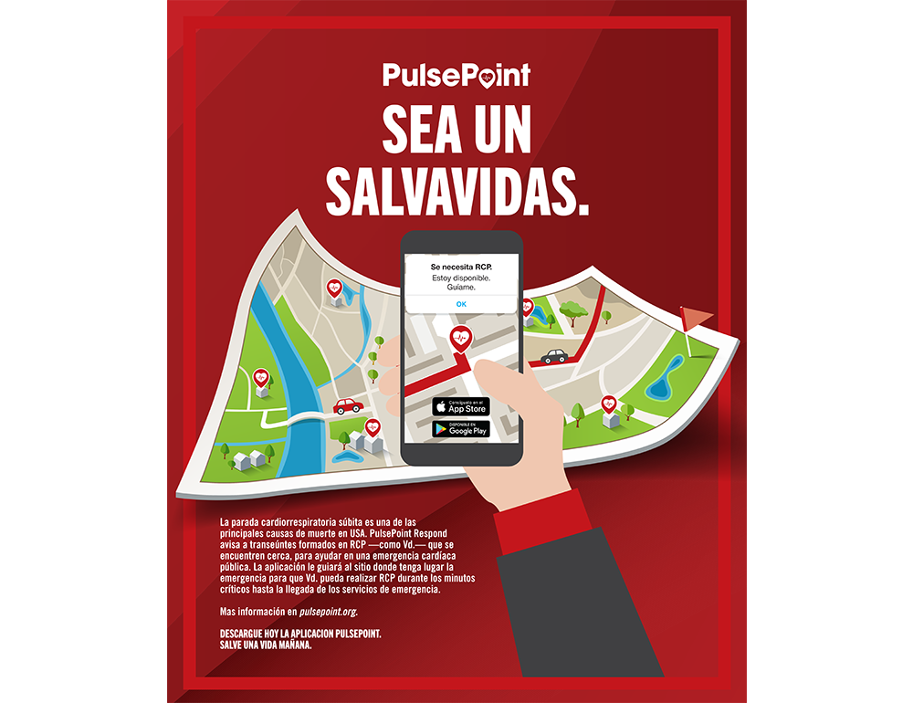 PulsePoint Outreach Poster (Spanish language).