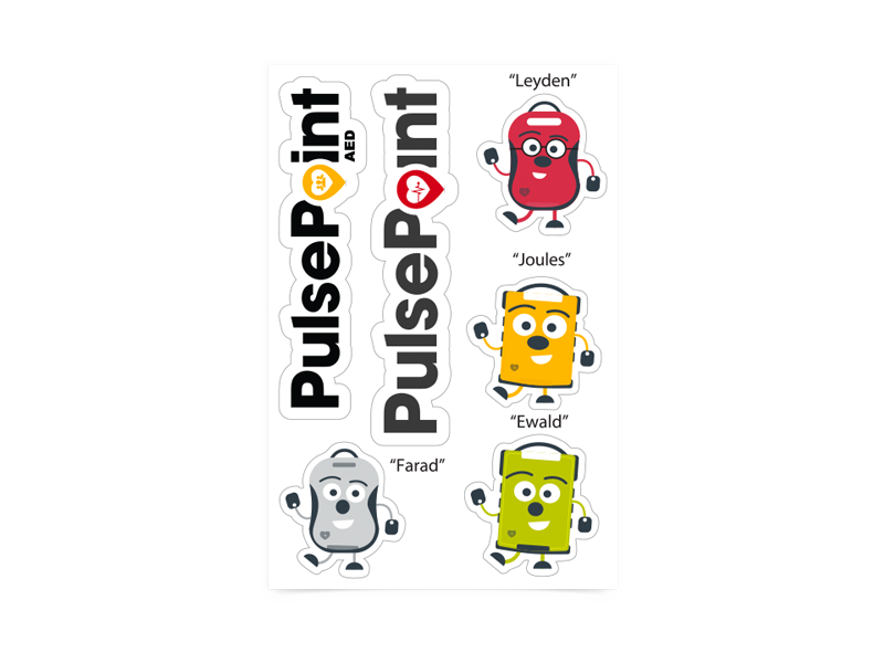 PulsePoint Promotional Items Stickers.