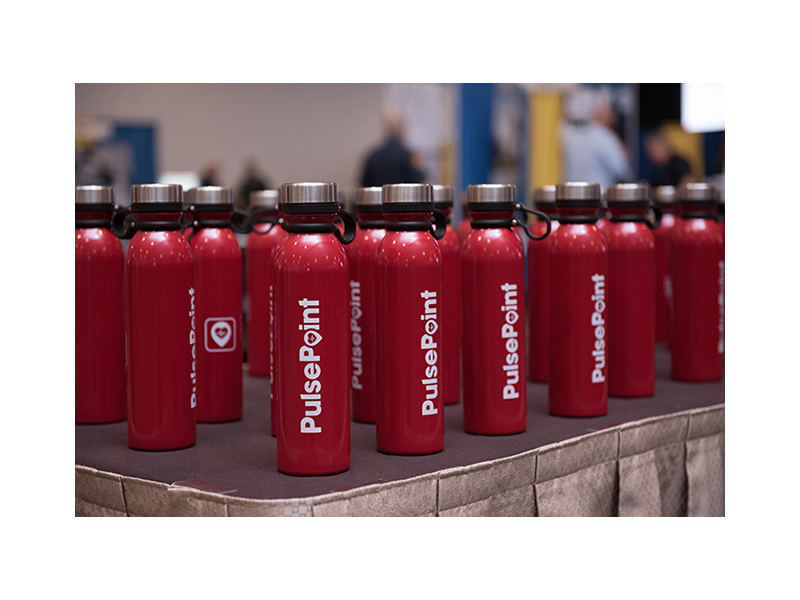 PulsePoint Promotional Water Bottles.