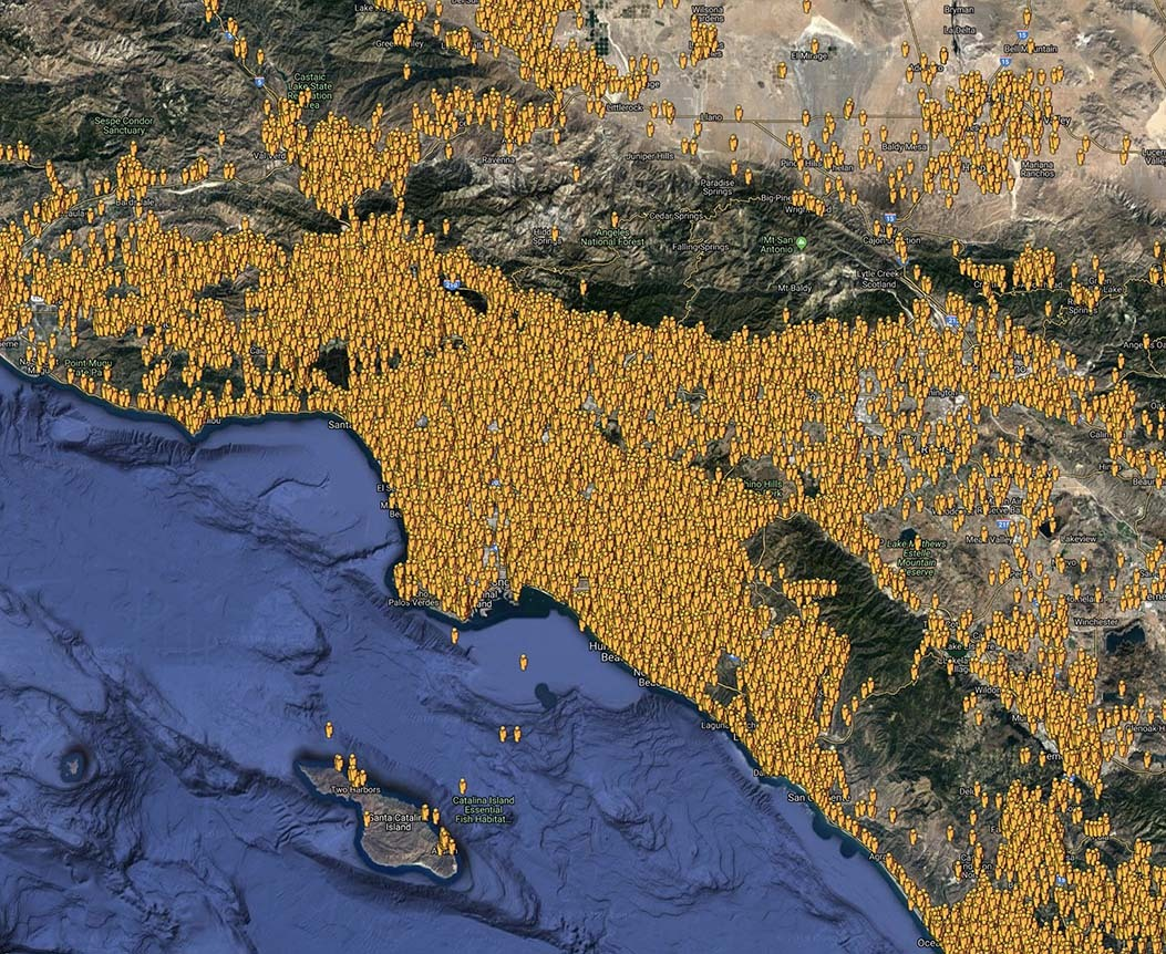 Southern California Responder Map