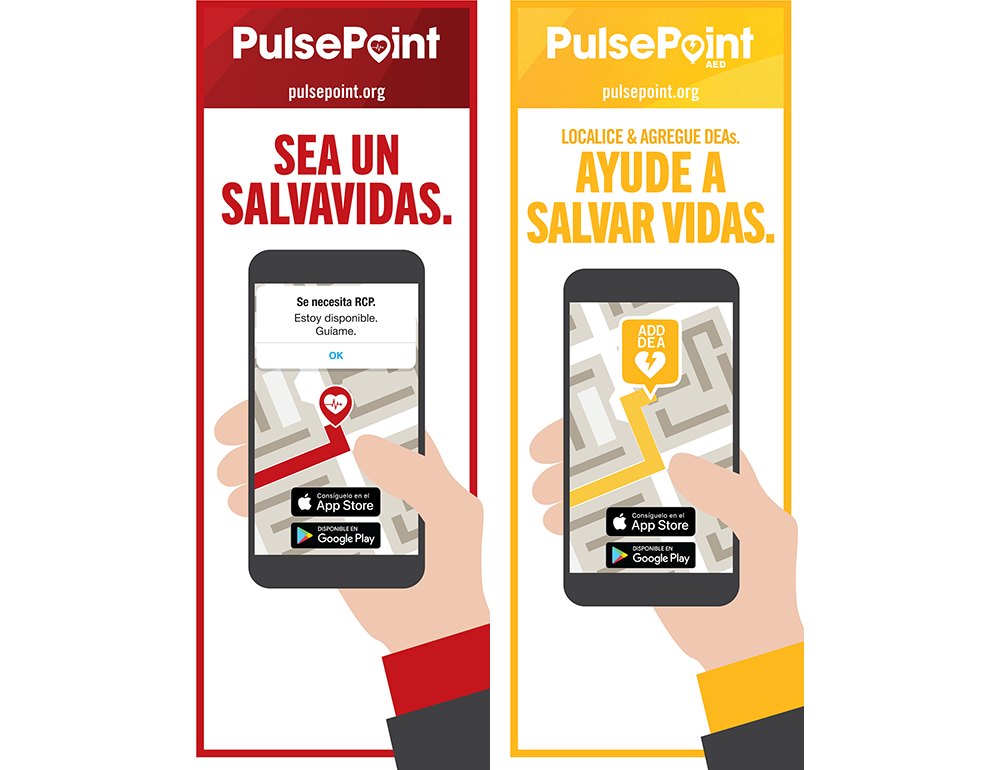 PulsePoint Outreach Retractable Banner (Spanish language).