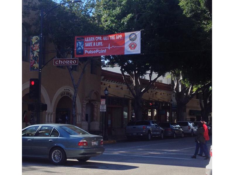 PulsePoint SLO Main Street Banner.