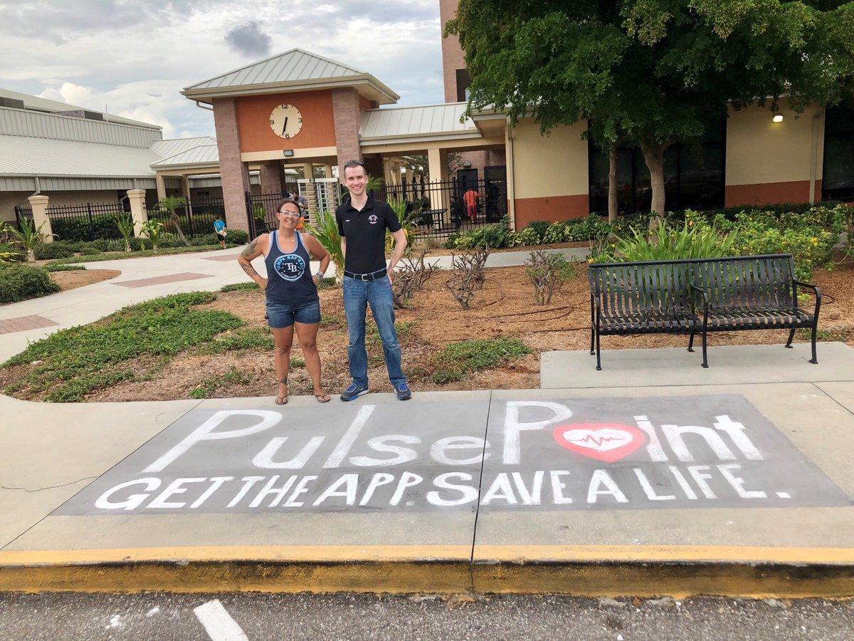 PulsePoint Sidewalk Chalk Art Manatee County.