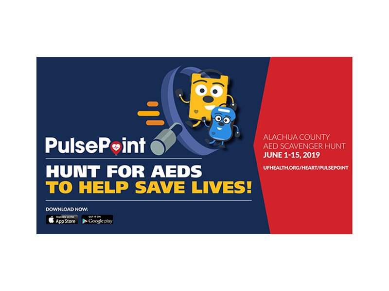 PulsePoint UF Health AED Registry Hunt Contest.